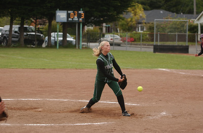 St. Bernard's starting pitcher Taylor Reed releases a pitch in the third inning of Saturday's doubleheader against Hoopa Valley.