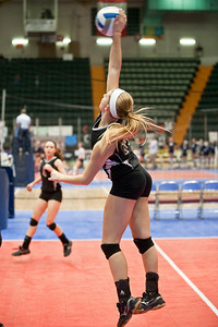 Burnt Hills-Ballston Lake's Kathleen Schurmer during the match against Pittsford Sutherland Sunday Afternoon NYSPHSAA Tournament at the Glens Falls Civic Center. Photo Eric Jenks 11/18/12