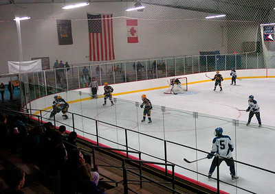 New boards and glass were installed over the summer at Saratoga Springs Ice Rink shown here during Wednesday's varsity scrimmage between Saratoga and Queensbury. Ed Burke 11/14/12