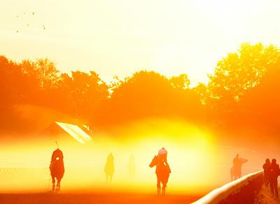 Oklahoma Race Course. Photo Erica Miller 9/3/09 spt_FoggyMorn1_Fri