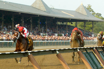 Ramon Dominguez won the Woodward Stakes, Grade 1, with Havre de Grace on Saturday at the Saratoga Race Course. Photo Erica Miller 9/3/11 spt_Woodward2_Sun
