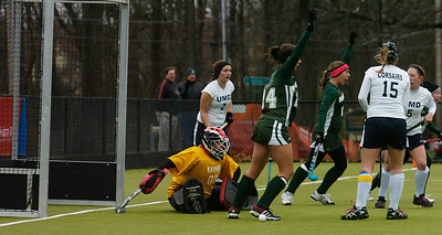 Skidmore celebrated after scoring yet another goal during their NCAA DII championship field hockey game against UMass Dartmouth.Photo Erica Miller 11/7/12 spt_SkidNCAA5_Thurs