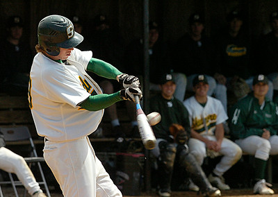 Skidmore's Brian Lowry connects during the first game of Saturday's doubleheader against RPI. Ed Burke 5/2/09