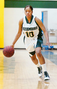 Senior Skidmore girls basketball teammate Sharlyn Harper. Photo Erica Miller 2/17/10 spt_Harper_Fri