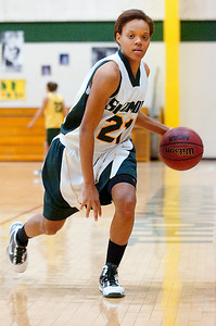 Senior Skidmore girls basketball teammate Amber Kinsey. Photo Erica Miller 2/17/10 spt_Kinsey_Fri