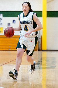 Senior Skidmore girls basketball teammate Kelly Bischoff. Photo Erica Miller 2/17/10 spt_Bischoff_Fri