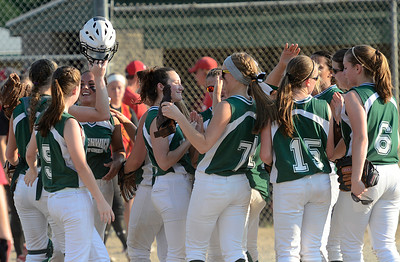 Greenwich celebrates their Section II Class C victory of Mechanicville Friday in Clifton Park. Ed Burke 5/31/13