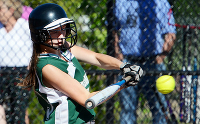 Greenwich's Ashleigh Maines up to bat during their softball regional game against Ticonderoga. Photo Erica Miller 6/3/13 spt_Softball6_Tues