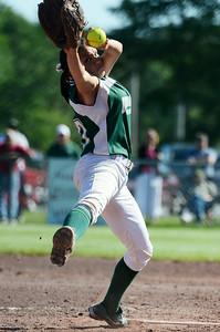 Greenwich's pitcher Sarah Heimbach during their softball regional game against Ticonderoga. Photo Erica Miller 6/3/13 spt_Softball4_Tues