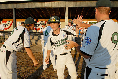 Clifton Park Babe Ruth Championship game, as Zack Sargent makes his way onto the field Friday evening.Photo Erica Miller 8/26/11 CPvsTRI1