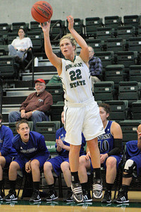 Josh Jackson/The Times-Standard  Jacks' Caitie Richards shoots for three during Saturday's game in Arcata.