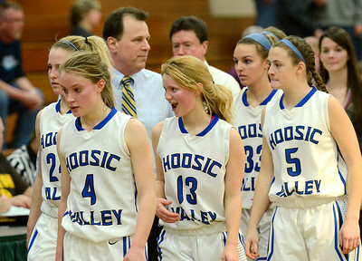 Samantha Connors' smile speaks for the team after Hoosic Valley beat Canton Tuesday to advance to a Regional Class C final Saturday in Plattsburgh against AuSable Valley. Ed Burke 3/5/13