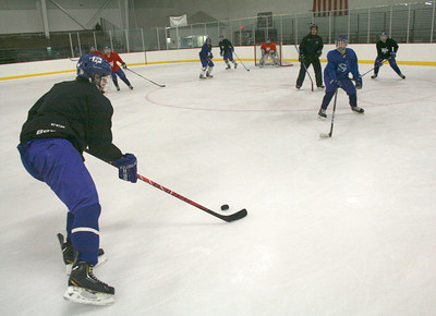Saratoga Springs High School hockey practice Tuesday at Saratoga Springs Ice Rink. Jennifer Collet photo 11/27/12