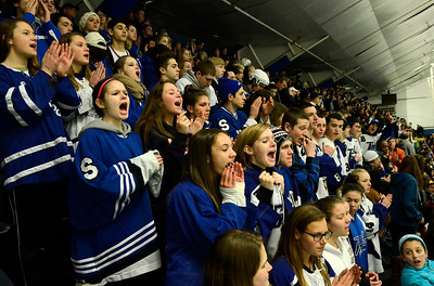 Blue Streak fans cheer on their team in Monsey. Ed Burke 3/2/13