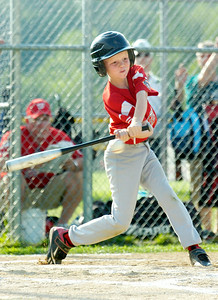 Wilton Rebels Lee Gnau up to bat during their little league baseball Cal Ripken Championship game against Clifton Park at Gavin Park Monday afternoon. Photo Erica Miller 7/19/10 spt_WiltonCP3_Tues