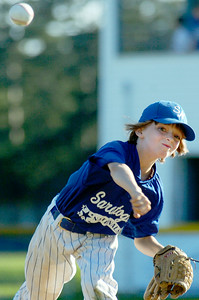 Saratoga National's pitcher Nate Brown warms up during their game against Saratoga American's 11-U little league Championship at East Side Rec Monday evening. Photo Erica Miller 7/26/10 spt_AmNat'l1_Tues