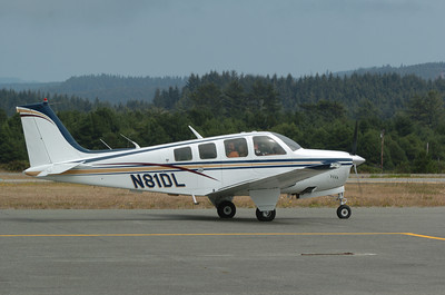 Mark McKenna/ The Times-Standard Ron Lews taxies his Beachcraft Bonanza at the Arcata Airport.