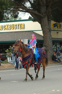 A members of the Native Arabian Horse Society* shows her horse and historic garb during the Pony Express Parade of the Azalea Festival on Saturday. The three-day event featured a barbecue, a football game, live music and lots of kids' events.