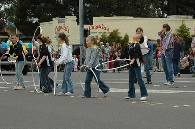 Members of Redwood Rythmic Gymnastics impress the judges during the Pony Express Parade of the Azalea Festival on Saturday. The three-day event featured a barbecue, a football game, live music and lots of kids' events.