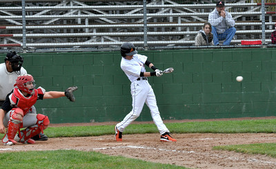 José Quezada/For the Times-Standard  ARC 1 hits the walk off single scoring 4 ARC from third base to end game bottom of 8th