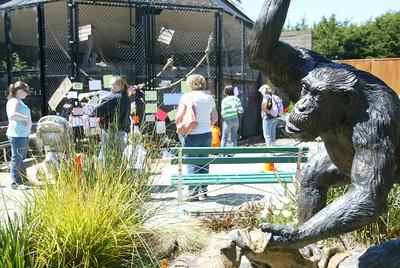 chimp bill statue memorial dead zoo