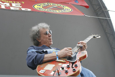 Josh Jackson/The Times-Standard  Elvin Bishop wails on the guitar at Blues By the Bay in Halvorsen Park on Sunday.