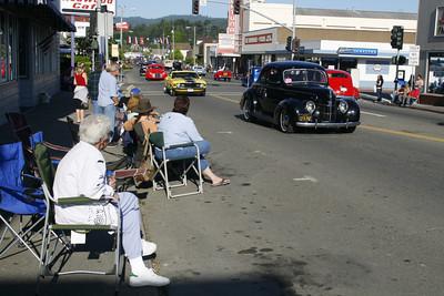 Josh Jackson/The Times-Standard  The Fortuna Auto Xpo cruise on Main Street on Friday.
