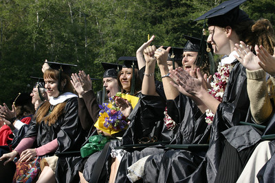 Josh Jackson/The Times-Standard  Students cheer during the graduation ceremony of the College of Natural Resources and Sciences at Humboldt State University on Saturday.