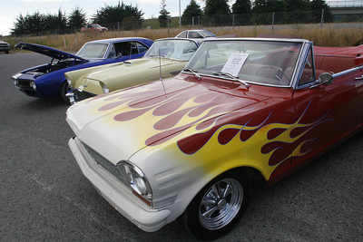 Josh Jackson/The Times-Standard  At the Howell N Hot Rods car show at ToniÕs in Arcata on Friday. Dozens of street rods, custom classics and chrome-covered cruisers were on display, along with  food and raffles. It was the best-attended yet in the 10-year history of the event.