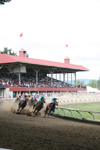 Erik Fraser/The Times-Standard Horse racing at the 111th Humboldt County Fair in Ferndale on Sunday, Aug. 19, 2007.