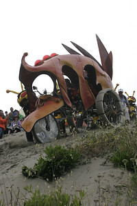 """Josh Jackson/The Times-Standard  """"June's Bloom"""" creeps over the edge of Dead Man's Drop in the Samoa Dunes during day one of the Kinetic Grand Championship on Saturday."""