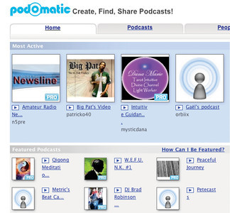 Podomatic.com allows users to host podcasts and to network.