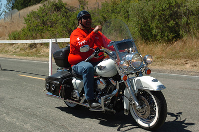 Mark McKenna/The Times-Standard Hundreds of Harleys rolled into the 30th annual Redwood Run in Piercy on Friday.