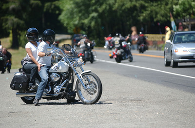 Mark McKenna/The Times-Standard U.S. Highway 101 was full of Harley-Davidson motorcycles on Friday. It was the start of the 30th Annual Redwood Run, an event that draws far more bikers than the 5,000 tickets for sale.
