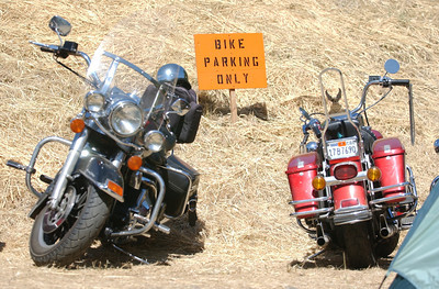 Mark McKenna/The Times-Standard  There isn't much room for cars at the 30th annual Redwood Run.