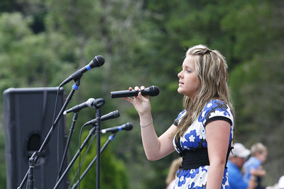 """Josh Jackson/The Times-Standard  Ali Gaube sings """"Only Hope""""  during the opening ceremonies of the 2007 Relay for Life at College of the Redwoods on Friday."""