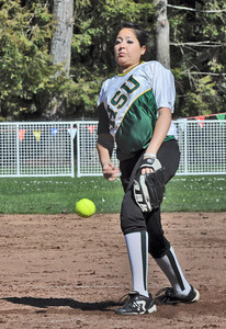 José Quezada/For the Times-Standard  3 pitcher HSU first game