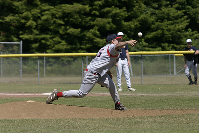 Josh Jackson/The Times-Standard  76ers' Gary Noel throws a pitch in game one of Friday's doubleheader at Redwood Fields in Cutten.