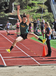 José Quezada/For the Times-Standard  Brittainy Chown competes in the long jump.