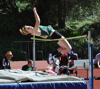 José Quezada/For the Times-Standard  Marissa McCay, HSU  Freshman high jump