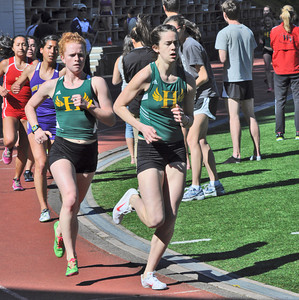 José Quezada/For the Times-Standard  Nina Carson and Morgan Thornburg in the Women's 3000m