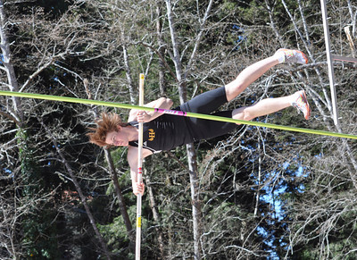 """José Quezada/For the Times-Standard  Nate Jones takes on the 12' 6"""" bar in the pole vaulting competition."""