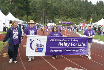 Josh Jackson/The Times-Standard  The Survivor's Lap kicks off the 2007 Relay for Life at College of the Redwoods on Friday.