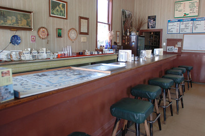Mark McKenna/The Times-Standard The bar in in Vern's Blue Room is older than the business.