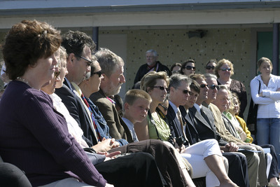 Josh Jackson/The Times-Standard  Family and friends watch the ceremony at the Zoe Barnum High School Graduation on Wednesday.
