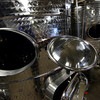 These stainless steel fermentation vats are the first step in making wine before the wine is put in barrels. Donna and Christian Hanson have opened a winery in Pittsfield called Balderdash Cellars.  Fri June 7, 2013 (GARVER)