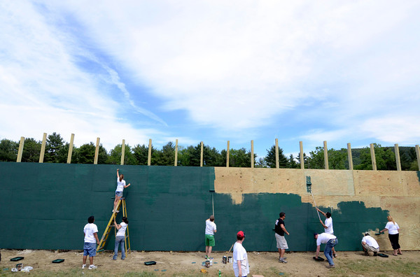 Berkshire Bank community service day at Camp Russell