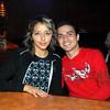 Celebrando con amigos en el bar Chamucos de Ciudad Juarez: Sarahi Rosas y Christian Ontiveros. Foto: Jesus A. Nava / Especial para El Paso y Mas.