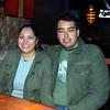 Celebrando con amigos en el bar Chamucos de Ciudad Juarez: Jovanna Arreola y Edgar Iniguez. Foto: Jesus A. Nava / Especial para El Paso y Mas.