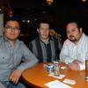 Celebrando con amigos en el bar Chamucos de Ciudad Juarez: Rodrigo Moreno, Edgar Lopez y Julio de la Vega. Foto: Jesus A. Nava / Especial para El Paso y Mas.